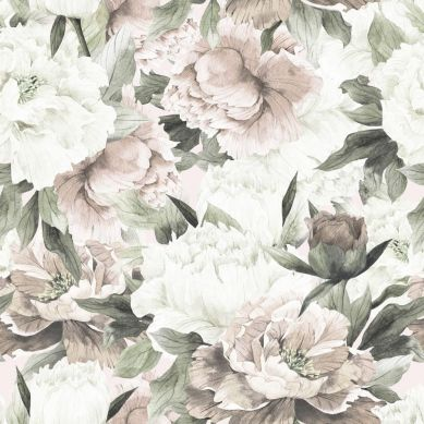 Dekornik - Tapeta White And Pink Peonies Max