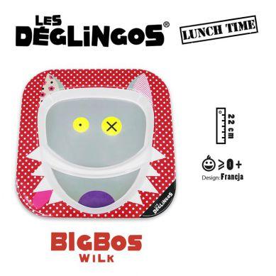 Les Deglingos - Talerz z Melaminy Wilk Bigbos