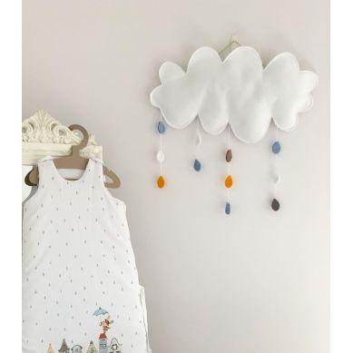 Muzpony - Dekoracja Ścienna z Filcu Chmura z Deszczem