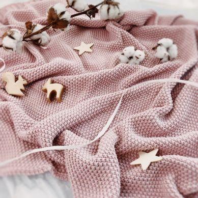 ColorStories - Koc Bawełniany Cotton Classic Zamglony Róż 130x170cm