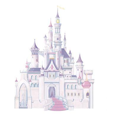 RoomMates - Naklejki Ścienne Wielokrotnego Użytku Zamek Disney'a
