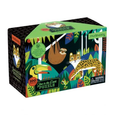 Mudpuppy - Puzzle Świecące w Ciemności Las Tropikalny 100 Elementów