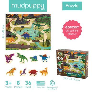 Mudpuppy - Puzzle Zestaw z 8 Figurkami Dinozaury