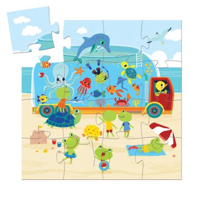 Djeco - Puzzle Akwarium 16el.