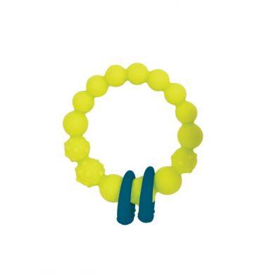 B. Toys - Gryzak Silikonowy Kółko z Pierścieniami Limonkowy