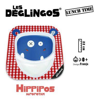Les Deglingos - Talerz z Melaminy Hipopotam Hippipios