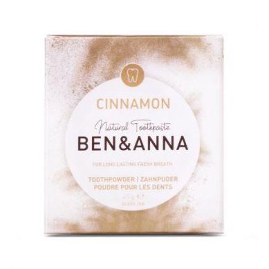 Ben and Anna - Naturalny Odświeżający Proszek do Zębów z Cynamonem 45 g
