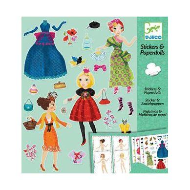 Djeco - Zestaw Z Naklejkami Moda