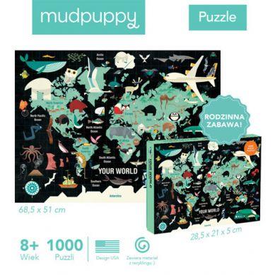 Mudpuppy - Puzzle Rodzinne Twój Świat 1000 elementów