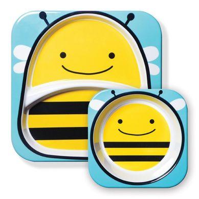 Skip Hop - Zestaw Talerz + Miseczka Zoo Pszczoła