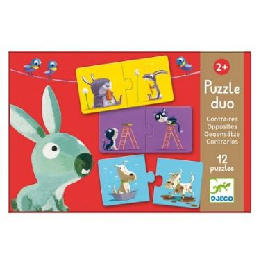 Djeco Duo Puzzle Przeciwieństwa