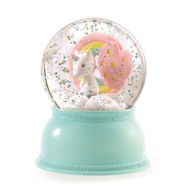 Djeco - Lampka Kula Śnieżna Jednorożec