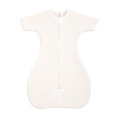 aden + anais - Śpiworek Muślinowy Snug Fit Sleeved Cream/Pink 6-9 m