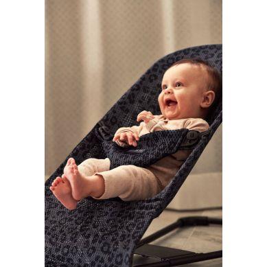 BabyBjorn - Leżaczek Bliss Mesh Antracytowy/Leopard