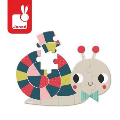 Janod - Mini Puzzle Baby Forest Ślimak