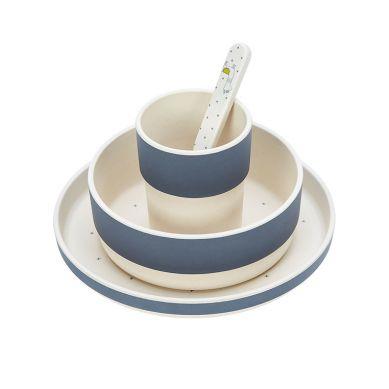 Lassig - Komplet Naczyń Bambusowych Glama Lama Blue