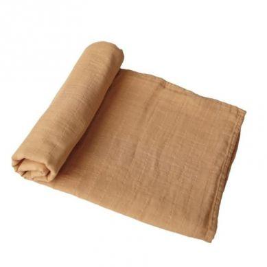 Mushie - Otulacz Kocyk Letni 100% Organic Cotton Fall Yellow
