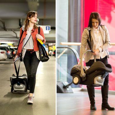 Rollersy - Adaptery z Kółkami do Fotelika Samochodowego Turkus