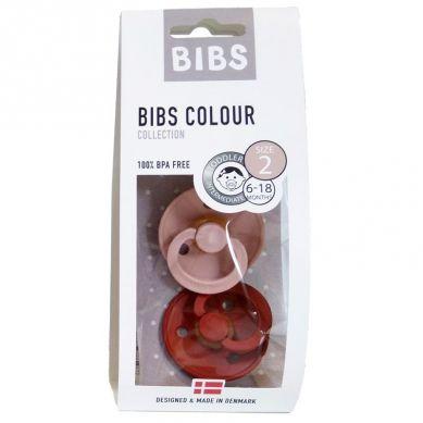 BIBS - Smoczek Uspokajający Hevea 2-pack M Blush & Rust
