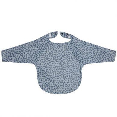 Bebe-Jou - Śliniak z długim rękawem Leopard Blue 6m+