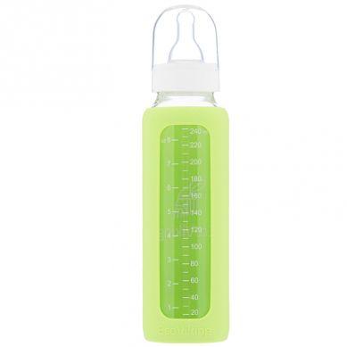 Eco Viking - Antykolkowa Butelka Szklana dla Niemowląt 240 ml Green