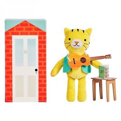 Petit Collage - Przytulanka w Pudełku Tygrys 3+