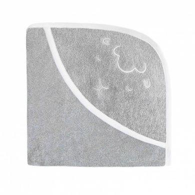 Effii - Ręcznik z Kapturkiem Owieczka Szary 95x95 cm