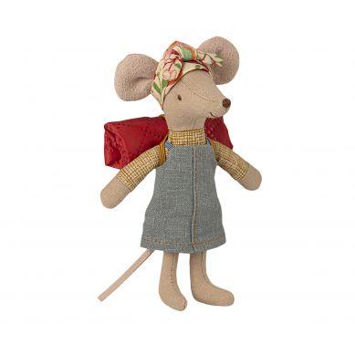 Maileg - Przytulanka Myszka Hiker mouse, Big sister
