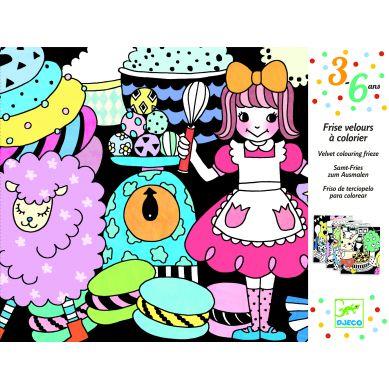 Djeco - Welwetowe Kolorowanki Sweet Parade