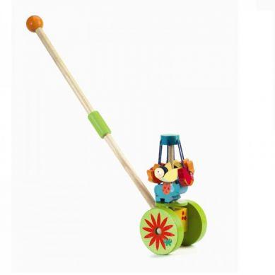 Djeco - Drewniana Zabawka do Pchania Karuzela