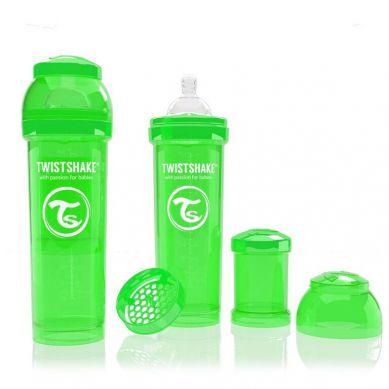 Twistshake - Butelka Anty-kolkowa 330ml Zielona