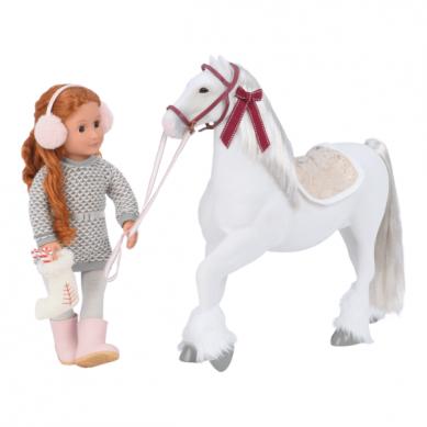 OurGeneration - Duży Koń dla Lalki 46cm Clydesdale