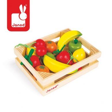 janod - Owoce w Skrzynce 12 szt.