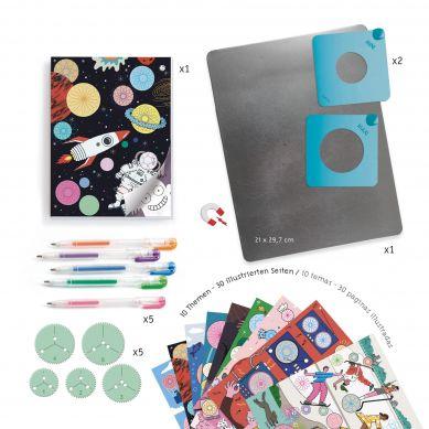 Djeco - Zestaw Artystyczny Spirale Motywy 7+
