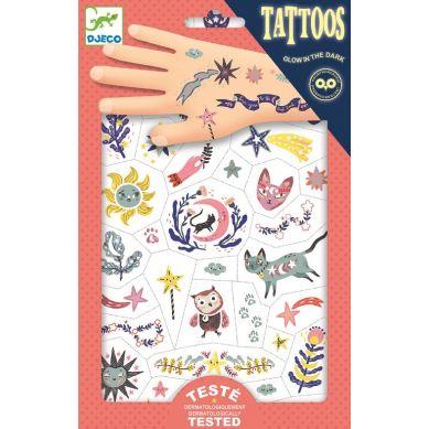 Djeco - Tatuaże Świecące w Ciemności Sny