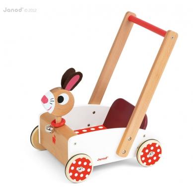 Janod - Drewniany Wózek Królik