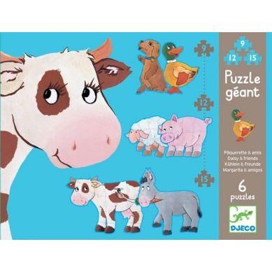 Djeco - Puzzle Duże Daisy i Przyjaciele