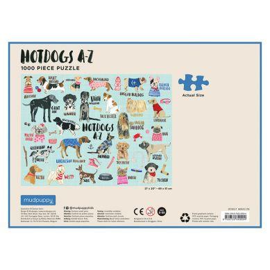 Mudpuppy - Puzzle Rodzinne Hot Dogs 1000 Elementów