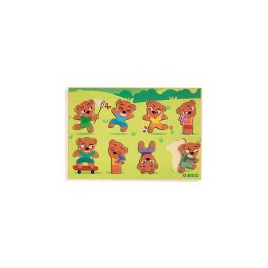 Djeco - Drewniane Puzzle Dopasuj Misia