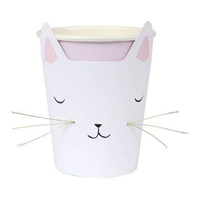 Meri Meri - Zestaw Kubeczków Urodzinowych Cat with Whiskers