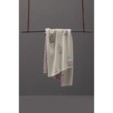 Fabliek - Kocyk Bawełniany Różowe Domki
