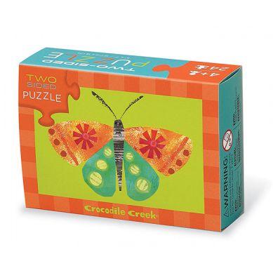 Crocodile Creek - Dwustronne Puzzle Motyl