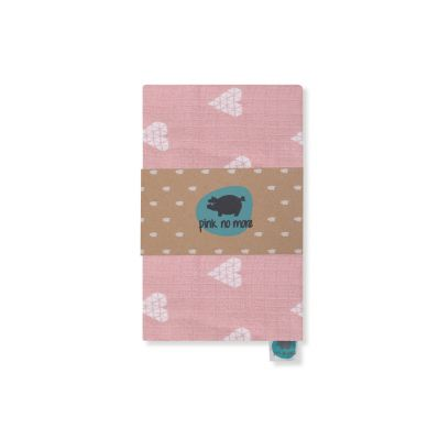 Pink no More - Kocyk Muślinowo-bambusowy Serca Róż
