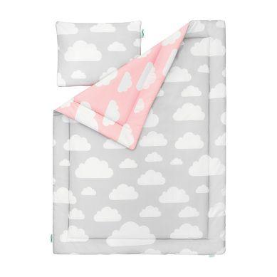 Lamps&co. - Pościel Dziecięca 100 x 135 Chmurki Pink&Grey