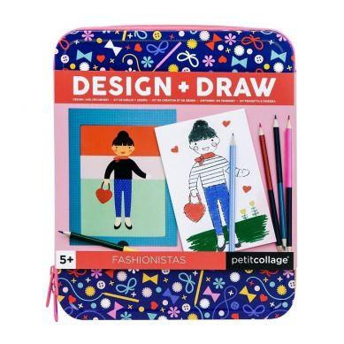 Petit Collage - Zestaw Projektuj i Rysuj Dziewczynki