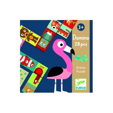 Djeco Domino w Pudełku Zwierzątka Animo