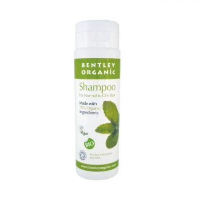 Bentley Organic - Szampon do Włosów Normalnych i Przetłuszczających się z Olejkiem Herbacianym, Cytryną i Miętą 250ml