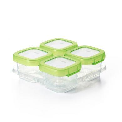 OXO - Pojemniki Szklane do Zamrażania 4 szt Green