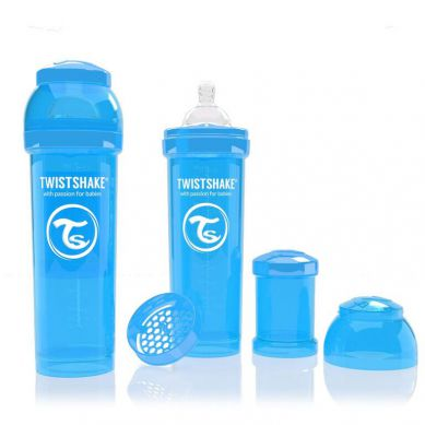 Twistshake - Butelka Anty-kolkowa 330ml Niebieska