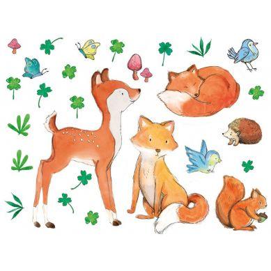 Pastelowelove - Naklejka na Ścianę Leśni Przyjaciele
